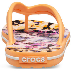 Crocs Crocband Tie Dye Mania klapki Kobiety, cantaloupe